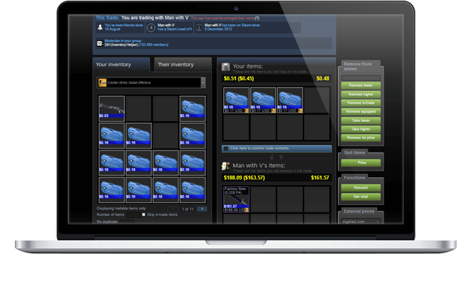 Steam inventory helper для яндекс браузера.