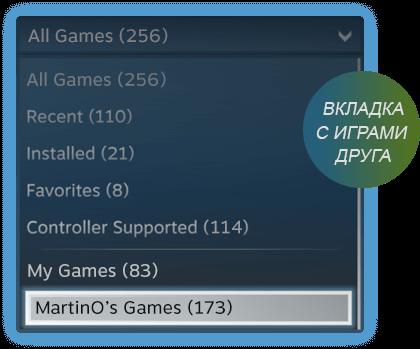 Как поделиться игрой в Steam с другом