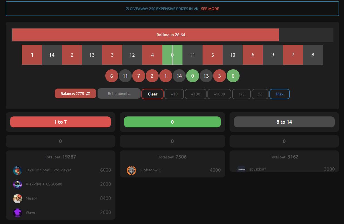 Кс го рулетка на деньги победитель онлайн турнира по покеру